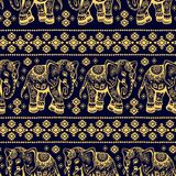 Ethnic elephant seamless Royalty Free Stock Photography