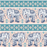 Ethnic elephant seamless Royalty Free Stock Image
