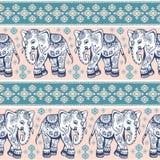 Ethnic elephant seamless Royalty Free Stock Image