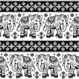 Ethnic elephant seamless Royalty Free Stock Photo