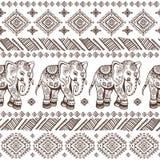 Ethnic elephant seamless Stock Images