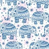 Ethnic elephant seamless Stock Photos