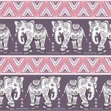 Ethnic elephant seamless Royalty Free Stock Photos