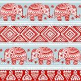 Ethnic elephant seamless Stock Photo