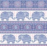 Ethnic elephant seamless Stock Image