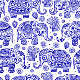 Ethnic elephant seamless Stock Images