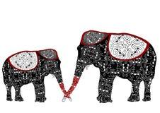 Ethnic elephants Stock Image