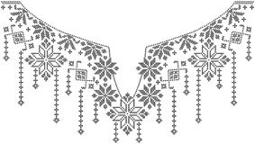 Ethnic embroidery design Royalty Free Stock Images
