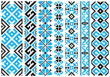 Ethnic embroidery ornaments seamless pattern Stock Photo
