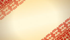 Ethnic fabric of Russian-style. Hand vector image in Russian-style. Very detailed. Detailed design of the texture of textile background Royalty Free Stock Photo