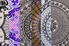 Ethnic fabric for sale in a spanish market Royalty Free Stock Photo
