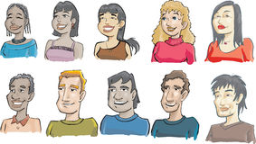 Ethnic faces Stock Image