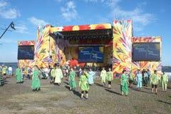 Ethnic Festival. PECHENEGY, UKRAINE- SEPTEMBER 12: Participants of Ethnic Festival Pechenezhskoe Pole (Field), September 12, 2010 in Pechenegy of Kharkiv state Royalty Free Stock Image