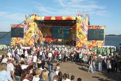 Ethnic Festival. PECHENEGY, UKRAINE- SEPTEMBER 12: Participants of Ethnic Festival Pechenezhskoe Pole (Field), September 12, 2010 in Pechenegy of Kharkiv state Royalty Free Stock Photography