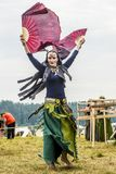 Ethnic Festival of Ancient Culture. Folk dances in the Russian Village.  royalty free stock photography