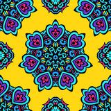 Ethnic Festive Abstract Floral Vector Pattern Royalty Free Stock Photo