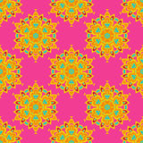 Ethnic Festive Abstract  Vector Pattern. Colorful Ethnic Festive Abstract Floral Vector Pattern Stock Images