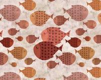 Ethnic fish background Stock Photo