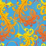 Ethnic fish seamless pattern. Can be used for wallpaper, website background, textile printing Royalty Free Stock Photo