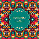 Ethnic floral card Royalty Free Stock Photography