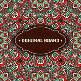 Ethnic floral card Stock Image
