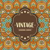 Ethnic floral card Stock Images