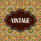 Ethnic floral card Royalty Free Stock Images