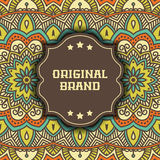 Ethnic floral card Royalty Free Stock Photos