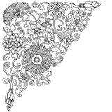 Ethnic floral doodle background in vector. Henna paisley design tribal design element. Stock Images