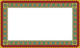 Ethnic floral frame Stock Photography