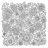 Ethnic floral retro doodle background pattern Royalty Free Stock Photo