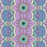 Ethnic floral seamless pattern Stock Photography