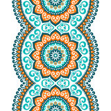 Ethnic floral seamless pattern royalty free illustration