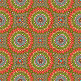 Ethnic floral seamless pattern Stock Photo