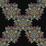 Ethnic floral seamless pattern. Abstract Stock Photography