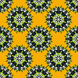 Ethnic floral seamless pattern abstract ornamental pattern. (vector eps 10 Royalty Free Stock Photography