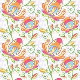Ethnic floral seamless pattern Royalty Free Stock Photos