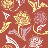 Ethnic Floral Seamless Pattern9 Royalty Free Stock Images
