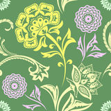 Ethnic Floral Seamless Pattern11 Stock Image