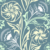 Ethnic Floral Seamless Pattern8 Royalty Free Stock Photo