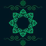 Ethnic floral seamless pattern in green Color. Abstract ornamental backdrop Royalty Free Stock Photography
