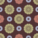 Ethnic floral seamless pattern7 Royalty Free Stock Images