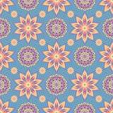 Ethnic floral seamless pattern3 Royalty Free Stock Images