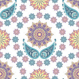 Ethnic floral seamless pattern Royalty Free Stock Images