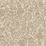 Ethnic floral seamless pattern Stock Photos