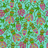 Ethnic floral seamless pattern Stock Images