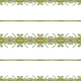 Ethnic Floral Stripes Pattern Stock Images