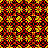 Ethnic Flower Pattern Royalty Free Stock Photography