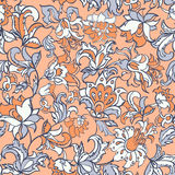 Ethnic flowers seamless pattern. Stock Photos