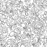 Ethnic flowers seamless vector pattern. Stock Photography